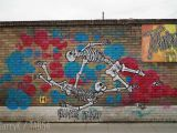 Wall Mural Artist London Street Art by Frankie Strand 5 – Skeletons