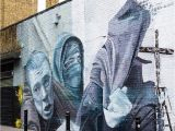 Wall Mural Artist London Street Art London Using News Articles & Google Images as