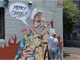 Wall Mural Artist Sydney Mural Mocking Scott Morrison S Hawaiian Jaunt is Painted Over