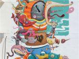 Wall Mural Artist Sydney Street Art Work Bipolar by Dulk