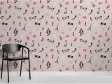 Wall Mural Contract Template Pink Fashion Illustration Wallpaper Mural