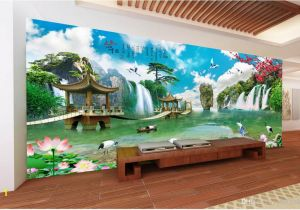 Wall Mural Cost 3d Room Wallpaper Custom Non Woven Mural Chinese Landscape