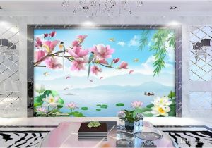 Wall Mural Cost 3d Wallpaper Custom Non Woven Mural Flower and Bird Rhyme