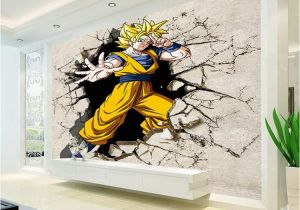 Wall Mural Cost Dragon Ball Wallpaper 3d Anime Wall Mural Custom Cartoon