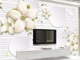 Wall Mural Custom Size Custom Size 3d Wallpaper Living Room Mural Lily Stereo Flower Picture sofa Tv Backdrop Mural Home Decor Creative Hotel Study Wallpape Wallpapers
