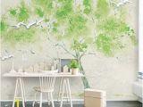 Wall Mural Custom Size Mural Custom Any Size 3d Mural Wallpaper Green Embossed