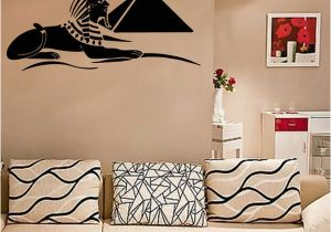 Wall Mural Decals Canada Sphinx Wall Art Mural Poster Ancient Egypt Treasure Wall Decal Sticker Living Room Bedroom Artistic Decoration Wall Tattoo Wall Applique Canada 2019