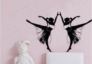 Wall Mural Decals Canada Two Girls Dancing Wall Sticker Art Home Decoration Girls Bedroom Wall Decal Art Wall Mural Poster Wall Decals for Sale Wall Decals for the Home From