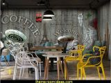 Wall Mural for Bar Creative Personality Retro Wood Wallpaper theme Restaurant