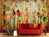 Wall Mural for Bar wholesale Customize 3d Wallpaper Bar Ktv Personality Retro European People Pharaoh Egypt Pyramids 3d Wall Mural Wallpaper In Hd Wallpapers It