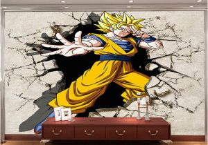 Wall Mural for Hallway Dragon Ball Wallpaper 3d Anime Wall Mural Custom Cartoon Wallpaper Boys Kids Bedroom Livingroom Wall Art Room Decor Hallway Wallpaper