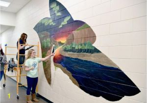 Wall Mural for Hallway Mural Support Williston Students Decorate Halls Of New High