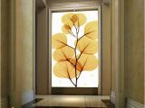 Wall Mural for Hallway wholesale 3d Wallpaper Home Decor Entrance Hallway Wall Painting Wedding House Backdrop Continental Golden Leaf Paper Wall Wallpaper Free
