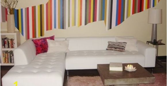 Wall Mural for Spa Christina S Colorful Stripe Diy Wall Mural