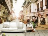 Wall Mural From My Photo Customization Backgrounds 3d Wallpaper for Walls 3d Wallpaper Murals Silk for Living Room Romantic town Retro Street Alley European Tv High