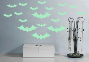 Wall Mural Glow In the Dark 2019 Dhl Halloween Bats Wall Decals Fluorescence Stickers Glow In the Dark Living Room Bedroom Removable Wall Stickers Murals From Lily Love $1 56