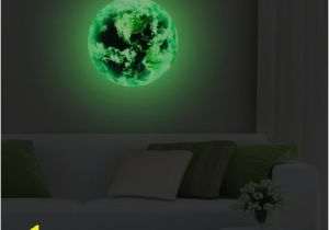 Wall Mural Glow In the Dark Iloky New 3d Wall Stickers for Kids Rooms Green Light Moon
