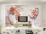 Wall Mural Home Decor Wdbh Custom 3d Wallpaper Modern Flower Relief Brick Wall Tv Background Living Room Home Decor 3d Wall Murals Wallpaper for Walls 3 D butterfly