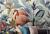 Wall Mural Ideas for Dining Room Amazon nordic Tropical Flamingo Wallpaper Mural for