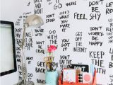 Wall Mural Ideas for Teenage Painted Affirmations