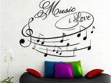 Wall Mural Installation Cost Amazon Na Giant Wall Decals Music I Love Art Design