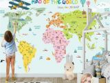 Wall Mural Installation Cost Colorful World Map Kids Bedroom Bedroom Wallpaper Mural Wall