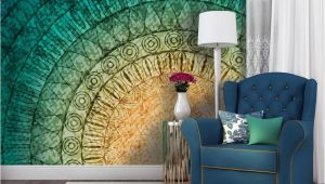 Wall Mural Interior Design A Mural Mandala Wall Murals and Photo Wallpapers Abstraction
