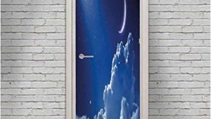 Wall Mural Night Sky Amazon Night Sky Door Wall Mural Wallpaper Stickers
