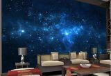 Wall Mural Night Sky Blue Galaxy Wall Mural Beautiful Nightsky Wallpaper