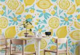 Wall Mural or Wallpaper Lemon Pattern White Wall Mural Wallpaper Patterns
