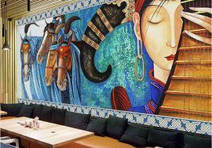 Wall Mural Painters Custom Mural Wallpaper Lute Horses Hand Painted Abstract Art Wall