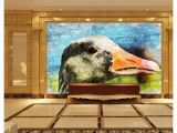 Wall Mural Painting Cost Papel De Parede Custom 3d Photo Murals Wall Paper Hand Painted Duck Oil Painting Retro Living Room Tv sofa Background Wall Decoration