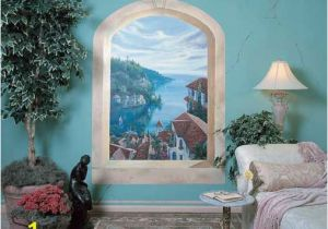 Wall Mural Painting Tips Mediterranean Villas Window Mural