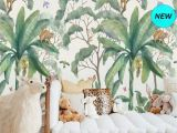 Wall Mural Peel and Stick Wallpaper Jungle Wall Mural Wallpaper Removable Peel & Stick Wallpaper
