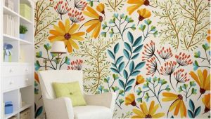 Wall Mural Peel and Stick Wallpaper Removable Wallpaper Colorful Floral