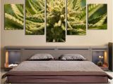Wall Mural Picture Frames Marijuana Cannabis 420 5 Piece Canvas Wall Art Wallpaper Mural Decoration Design Artwork Poster Decor Prints Paintings