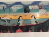 Wall Mural Picture Frames Rare K Hopling Painting the Penguins Shallow Water Frame
