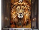 Wall Mural Picture Frames Zaras Lion Painting 5×9 Ft Paper Wall Poster without Frame