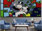 Wall Mural Pop Art Großhandel Alec Monopol Hohe Qualität Handgemalte Hd Druck Graffiti Pop Art –lgemälde Laufen Wohnkultur Wandkunst Auf Leinwand Multi Größen G114 Von
