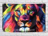 Wall Mural Pop Art Großhandel Tier Lion Flag Banner Pop Art Malerei Home Dekoration Hängen Flagge 4 Gromments In Ecken 3 5ft 144 Cm 96 Cm Von Ssp686 $6 5 Auf