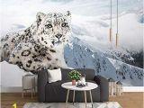 Wall Mural Printer Machine Lifme 3d Modern Wall Paper Simple Snow Leopard Murals