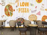 Wall Mural Printing Services Beibehang Custom 3d Mural White Wooden Board Pizza 3d Wallpaper