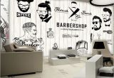 Wall Mural Printing Services Free Shipping 3d Beauty Barber Mural Salon Barber Shop Fashion