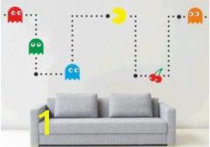 Wall Mural Stencil Kits Pacman Wall Mural Sticker Kit Retro Vinyl Kids Games Decal Stencil