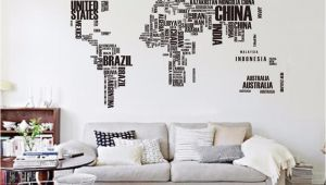 Wall Mural Stickers Australia Big Letters World Map Wall Sticker Decals Removable World Map Wall Sticker Murals Map Of World Wall Decals Vinyl Art Home Decor