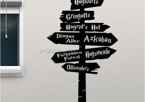 Wall Mural Stickers Australia Harry Potter Wall Decal Hogwarts Road Sign Vinyl Sticker Home Movie Decor Removable Diy Wall Sticker Poster Adhesive Decals H 03 D Australia