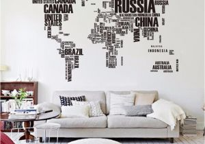 Wall Mural Stickers Canada Big Letters World Map Wall Sticker Decals Removable World Map Wall Sticker Murals Map Of World Wall Decals Vinyl Art Home Decor
