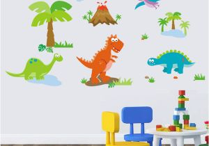 Wall Mural Stickers Canada Lovely Dinosaur Paradise Wall Art Decal Sticker Decor for Kid S Nursery Room Home Decorative Murals Posters Wallpaper Stickers Canada 2019 From