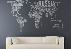 Wall Mural Stickers Canada World Map Country Names Wall Decal Sticker Want This