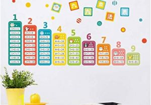 Wall Mural Stickers for Kids Rooms Buy Bibitime Chinese Math Wall Stickers Cartoon Animal Education